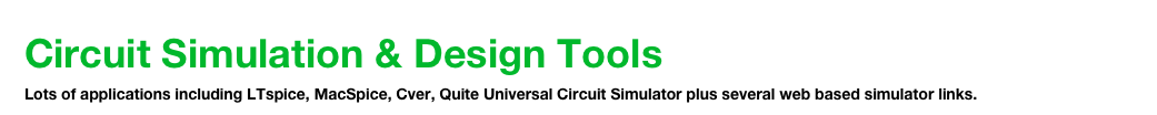 Circuit Simulation & Design Tools  